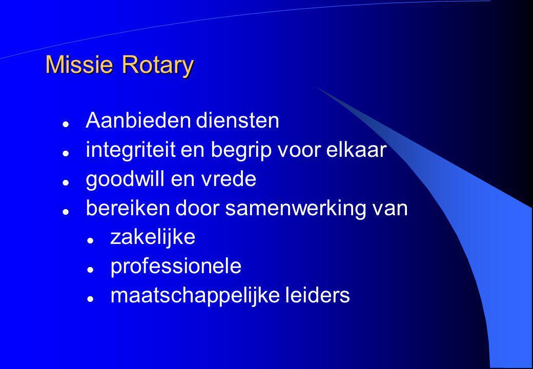 Missie Rotary Aanbieden diensten integriteit en begrip voor elkaar goodwill en vrede bereiken door samenwerking van zakelijke professionele maatschapp