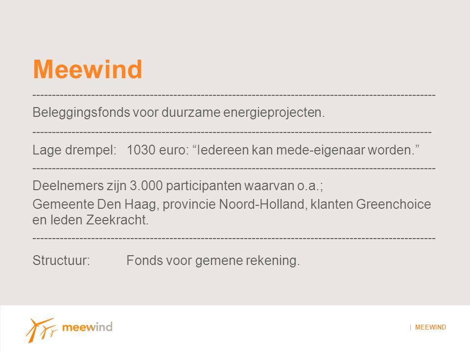 Meewind klanten - | MEEWIND