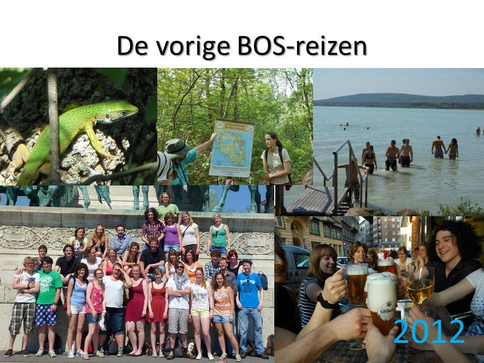 De vorige BOS-reizen 2012