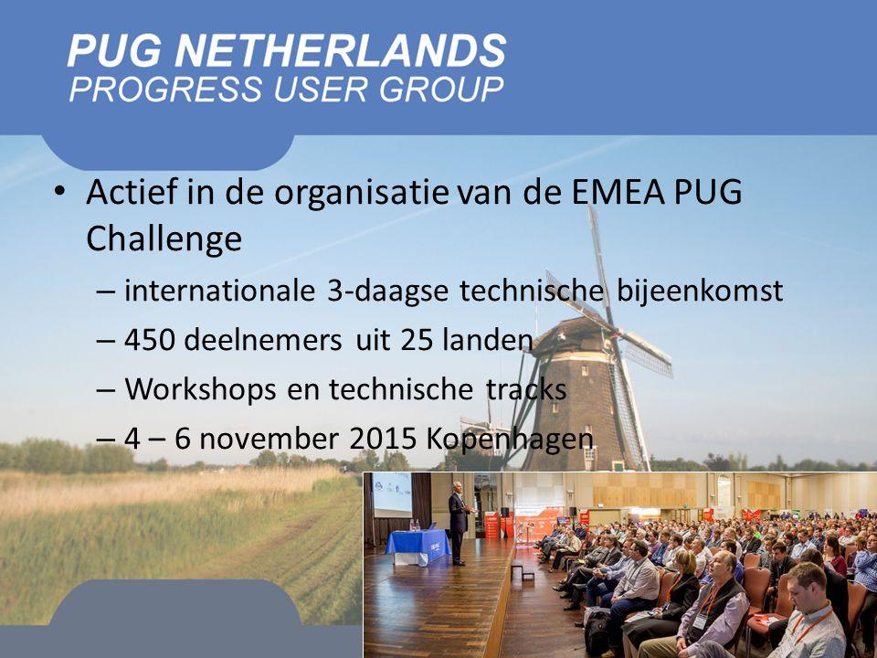 Actief in de organisatie van de EMEA PUG Challenge – internationale 3-daagse technische bijeenkomst – 450 deelnemers uit 25 landen – Workshops en technische tracks – 4 – 6 november 2015 Kopenhagen