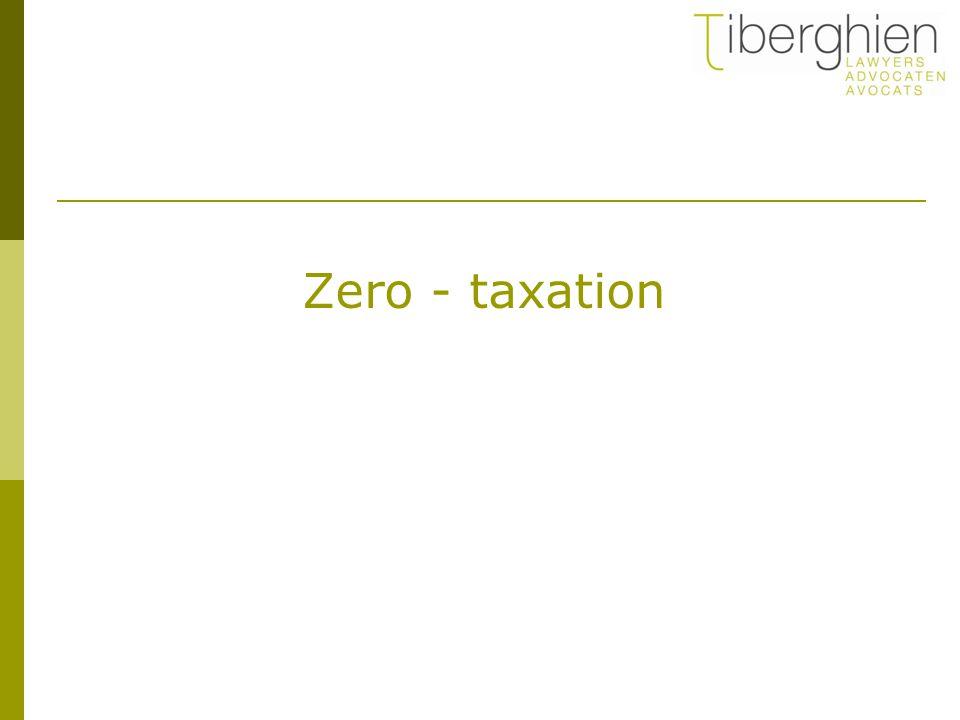 Zero - taxation