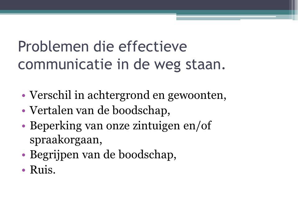 Problemen door verschil in achtergrond en gewoonten.