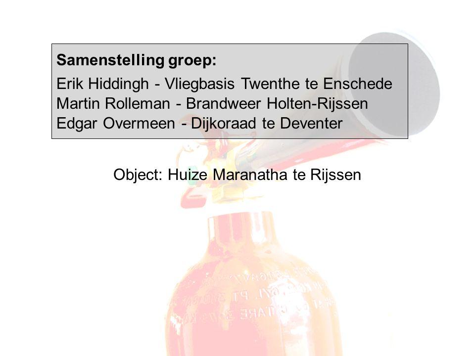 Samenstelling groep: Erik Hiddingh - Vliegbasis Twenthe te Enschede Martin Rolleman - Brandweer Holten-Rijssen Edgar Overmeen - Dijkoraad te Deventer