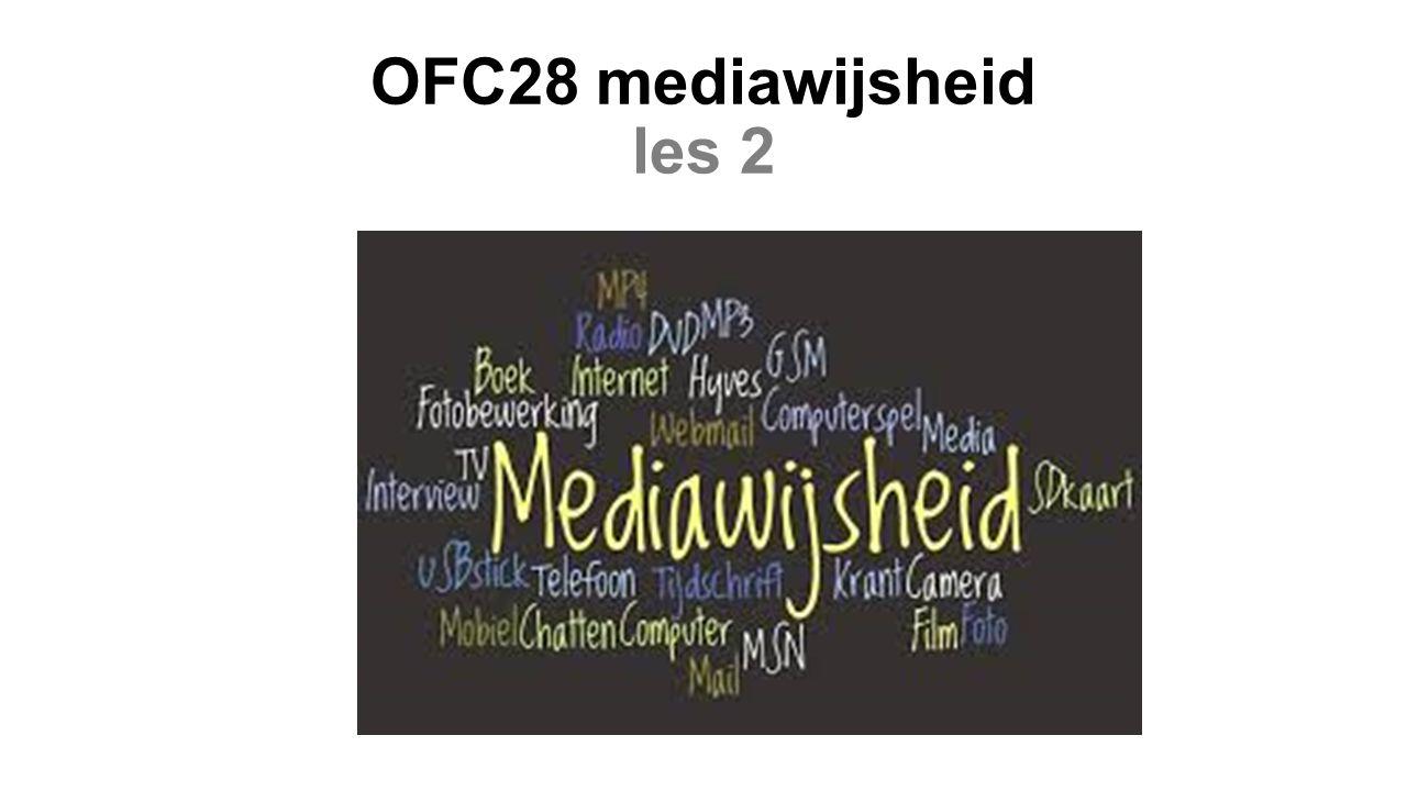 OFC28 mediawijsheid les 2