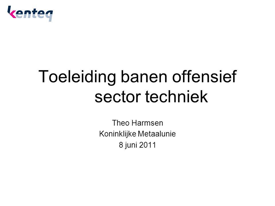 Toeleiding banen offensief sector techniek Theo Harmsen Koninklijke Metaalunie 8 juni 2011