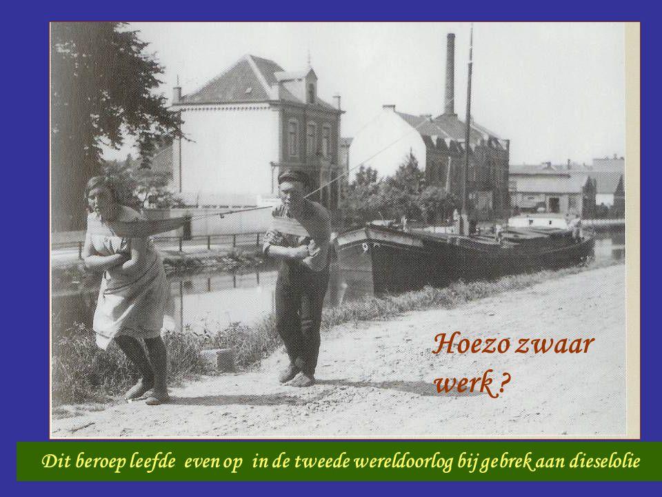 Scheepsjager Dit beroep leefde even op in de tweede wereldoorlog bij gebrek aan dieselolie Hoezo zwaar werk ?