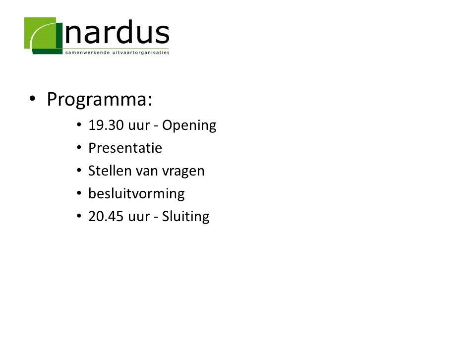Programma: 19.30 uur - Opening Presentatie Stellen van vragen besluitvorming 20.45 uur - Sluiting