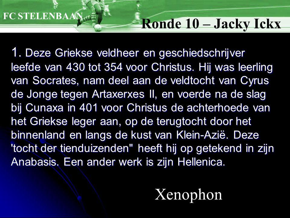 1. Deze Griekse veldheer en geschiedschrijver leefde van 430 tot 354 voor Christus.