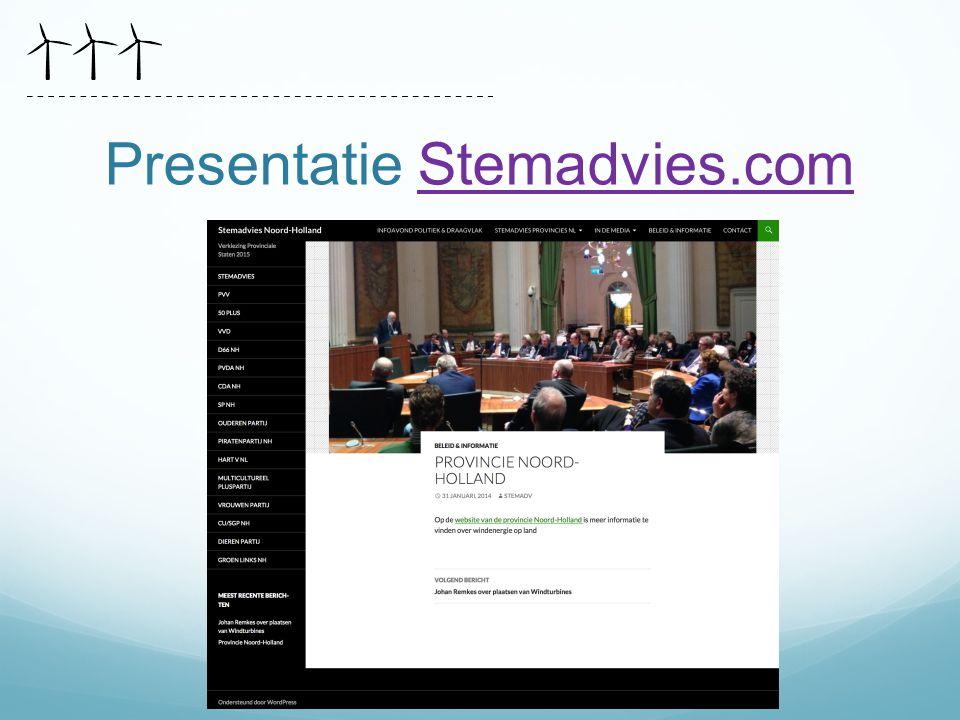 Presentatie Stemadvies.comStemadvies.com