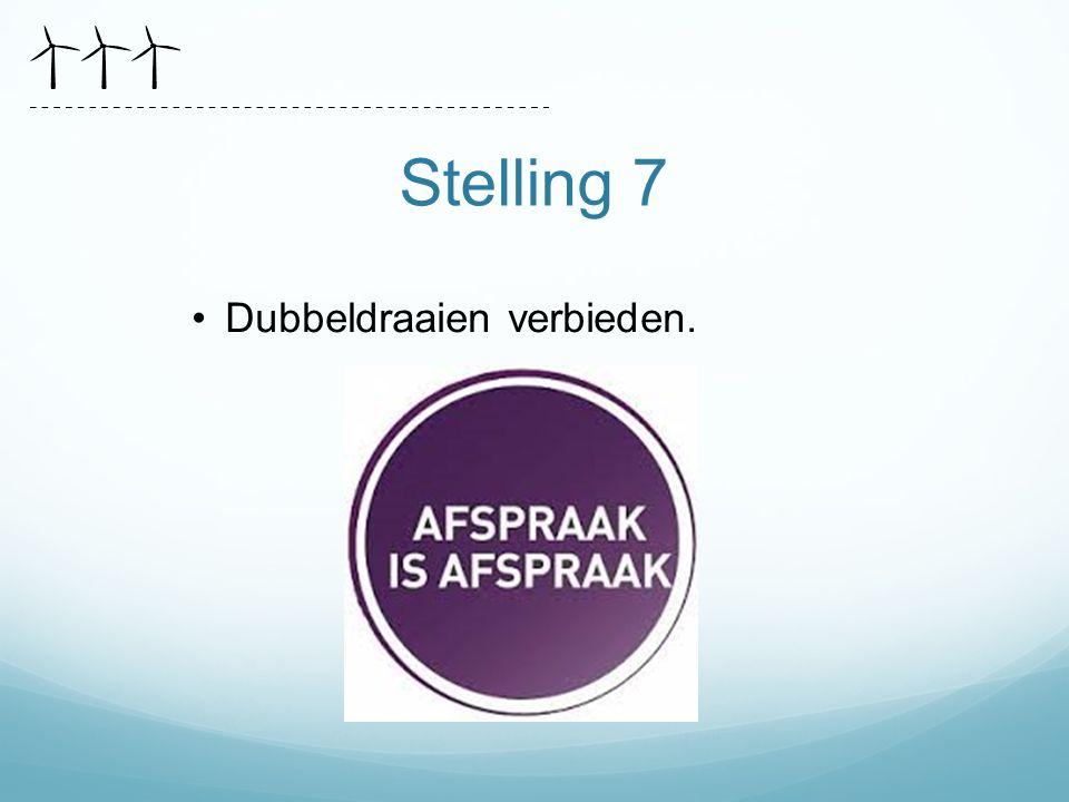 Stelling 7 Dubbeldraaien verbieden.