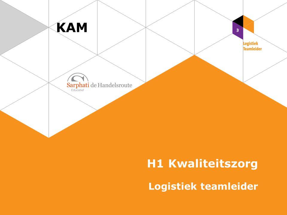 Kwaliteit in de logistiek Goederen voldoen aan de gestelde eisen en behoeften van de klant Kwaliteitszorg Activiteiten om kwaliteit te realiseren 2 KAM   Logistiek teamleider Kwaliteit