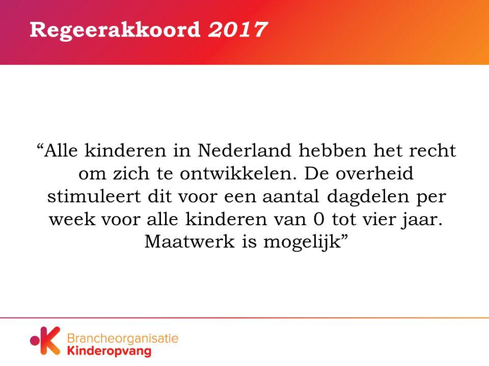 Regeerakkoord 2017 Alle kinderen in Nederland hebben het recht om zich te ontwikkelen.