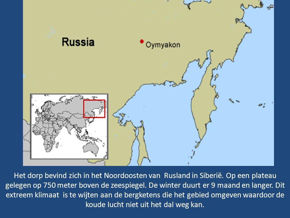 Het dorp bevind zich in het Noordoosten van Rusland in Siberië.