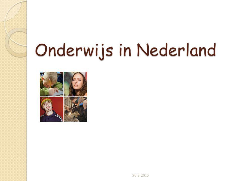 Onderwijs in Nederland 30-3-2015