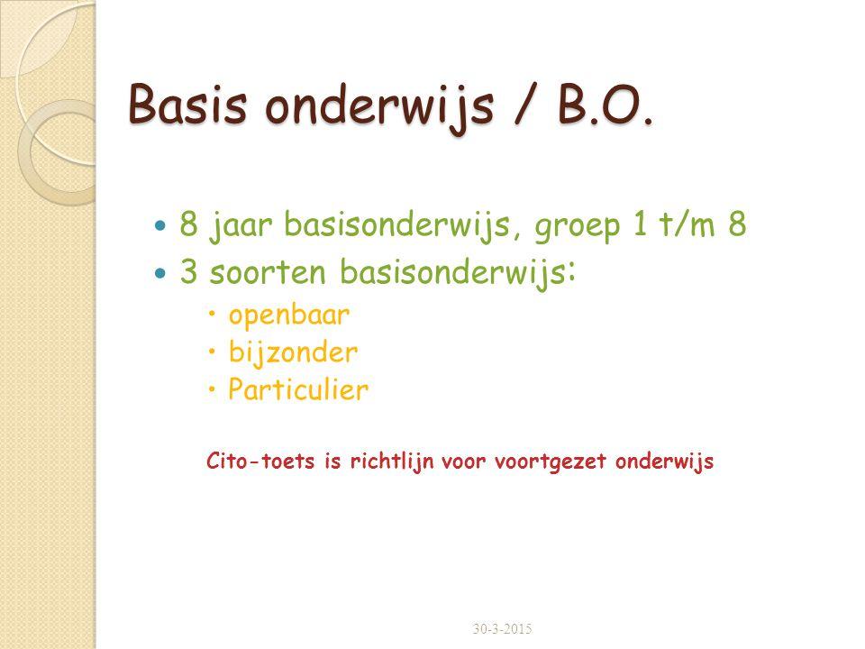Basis onderwijs / B.O.