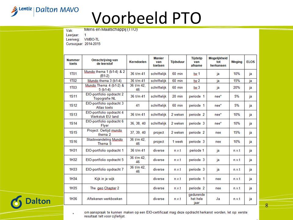 Voorbeeld PTO 8