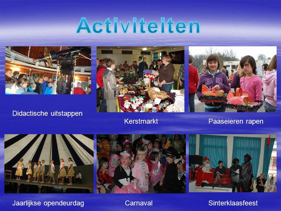 KerstmarktPaaseieren rapen Jaarlijkse opendeurdagCarnavalSinterklaasfeest Didactische uitstappen