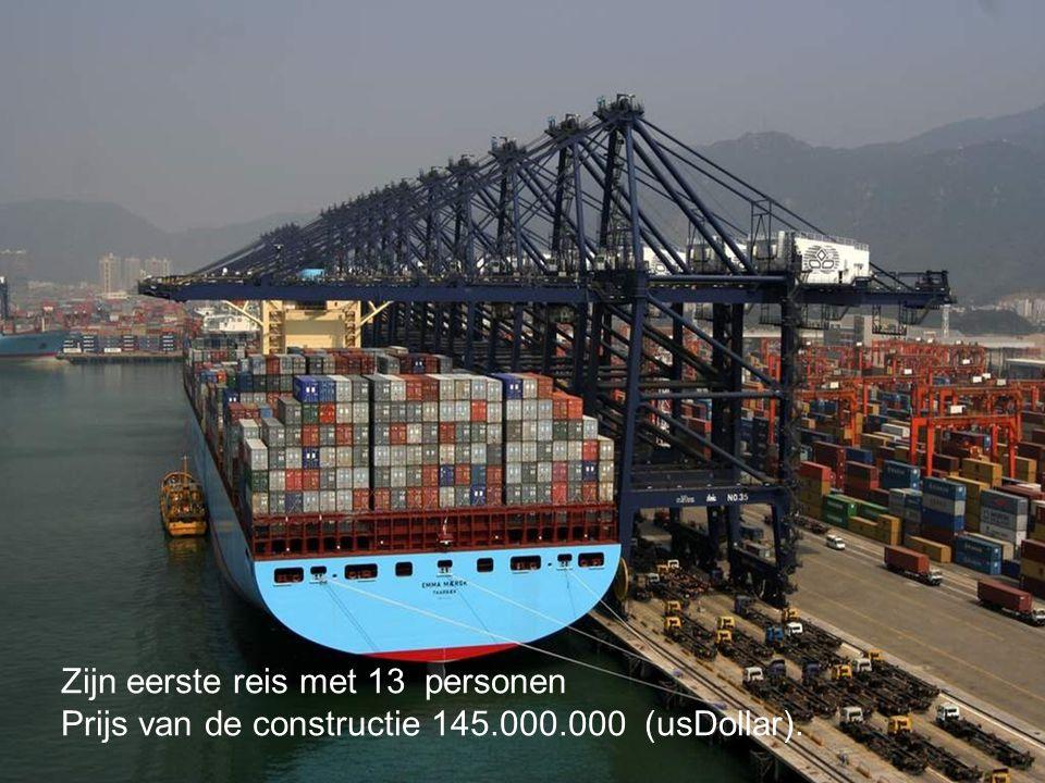Zijn eerste reis met 13 personen Prijs van de constructie 145.000.000 (usDollar).
