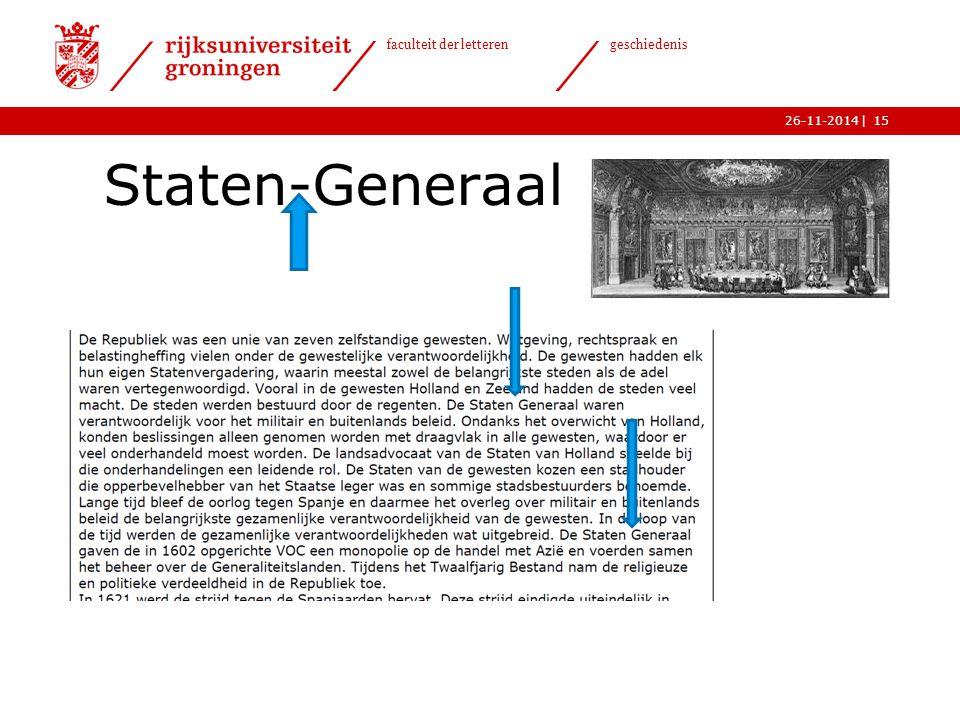 | faculteit der letteren geschiedenis 26-11-2014 Staten-Generaal 15