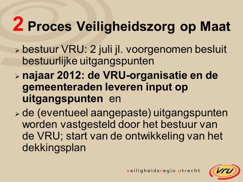 2 Proces Veiligheidszorg op Maat  bestuur VRU: 2 juli jl.