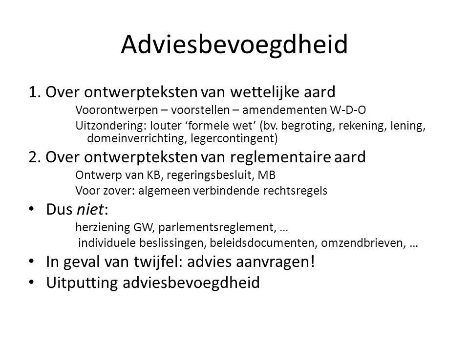 Adviesbevoegdheid 1.
