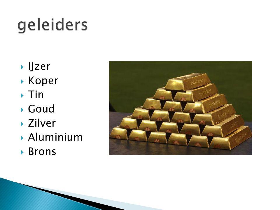  IJzer  Koper  Tin  Goud  Zilver  Aluminium  Brons