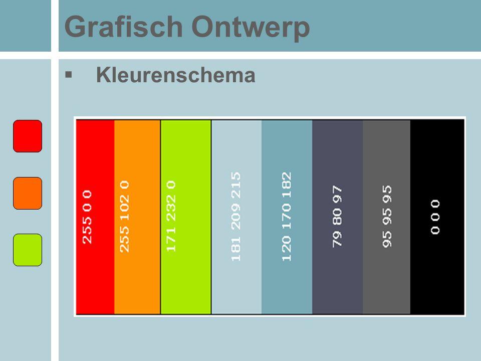 Grafisch Ontwerp  Kleurenschema
