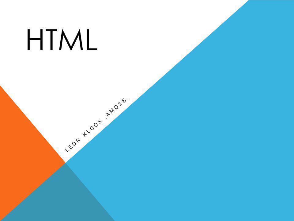 HTML LEON KLOOS,AMO1B.