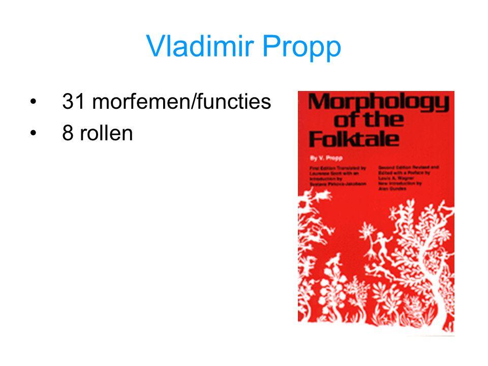31 morfemen/functies 8 rollen
