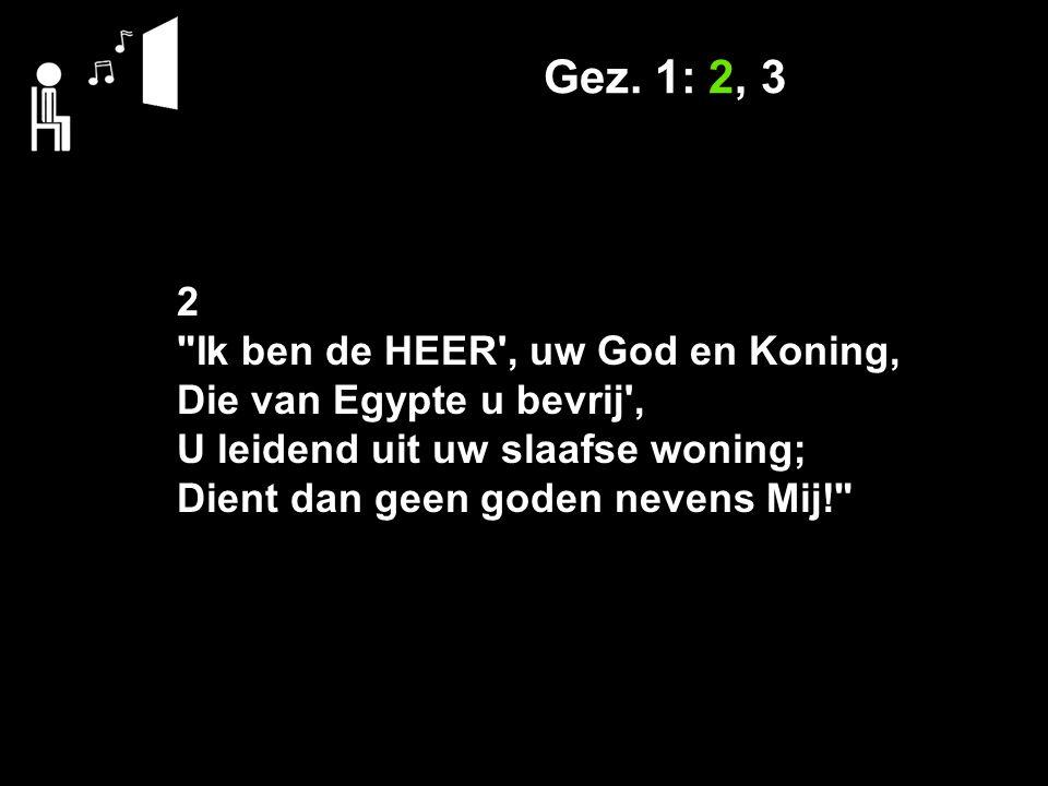 Gez. 1: 2, 3 2