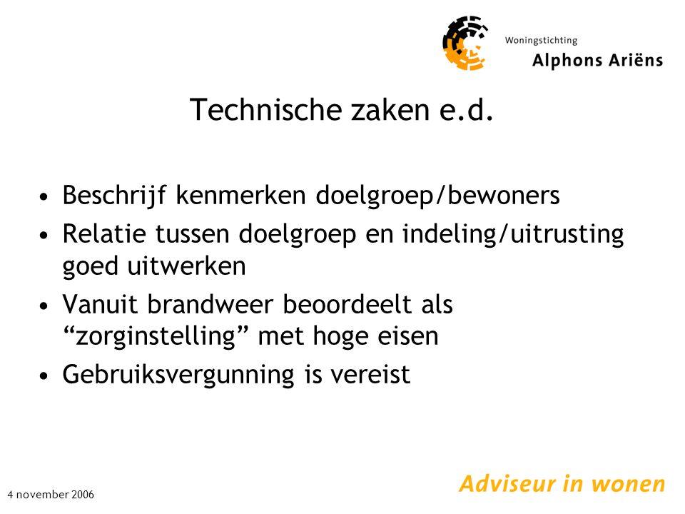 Technische zaken e.d.