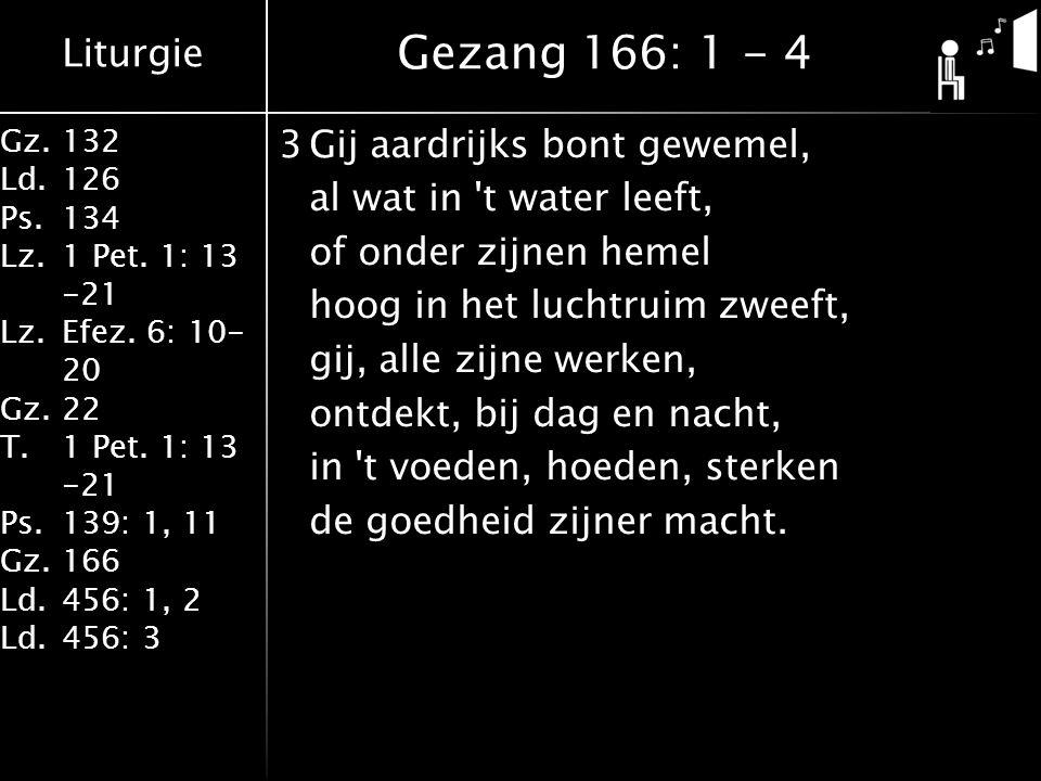 Liturgie Gz.132 Ld.126 Ps.134 Lz.1 Pet. 1: 13 -21 Lz.Efez.