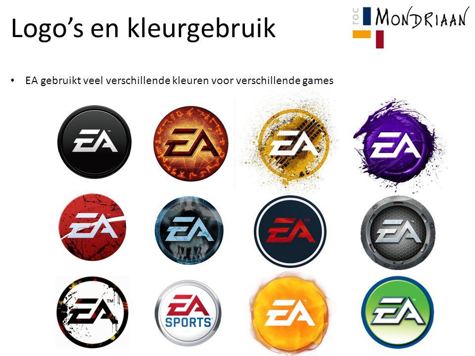 Logo's en kleurgebruik EA gebruikt veel verschillende kleuren voor verschillende games