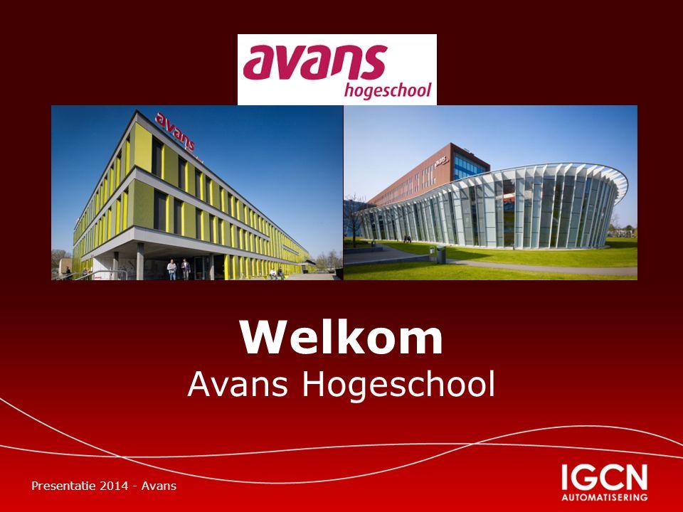 Welkom Avans Hogeschool Presentatie 2014 - Avans