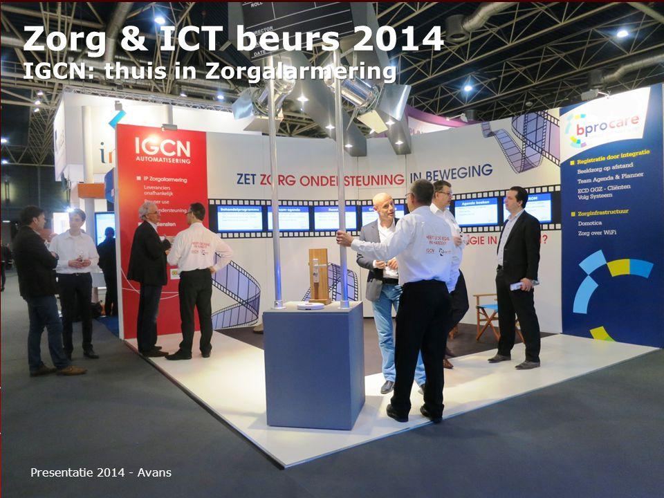 Zorg & ICT beurs 2014 IGCN: thuis in Zorgalarmering Presentatie 2014 - Avans