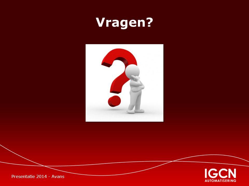 Vragen Presentatie 2014 - Avans
