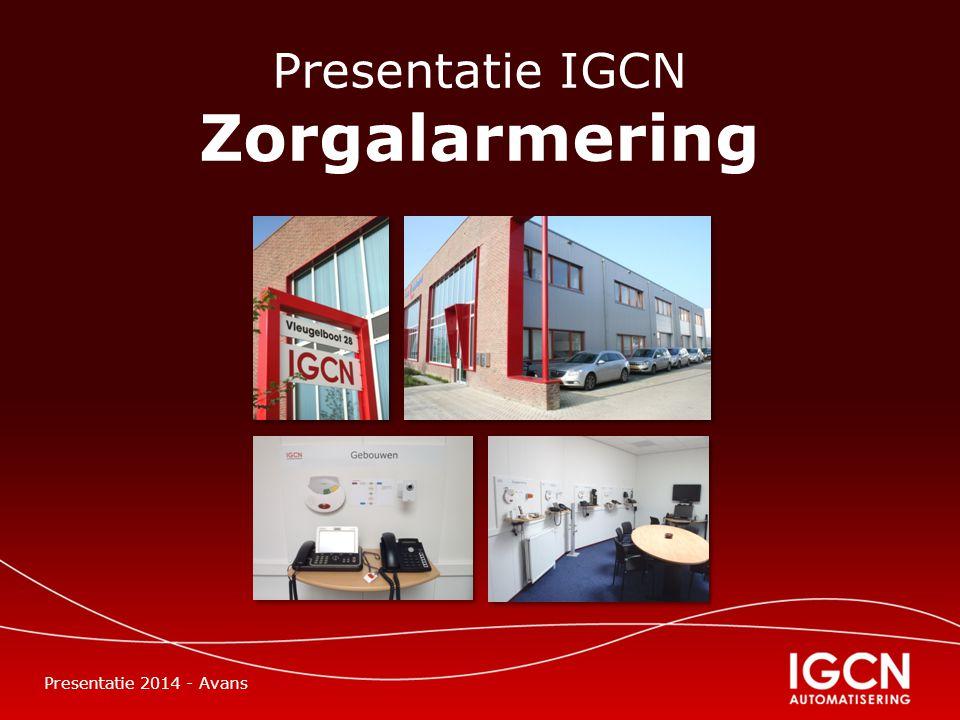 Presentatie IGCN Zorgalarmering Presentatie 2014 - Avans