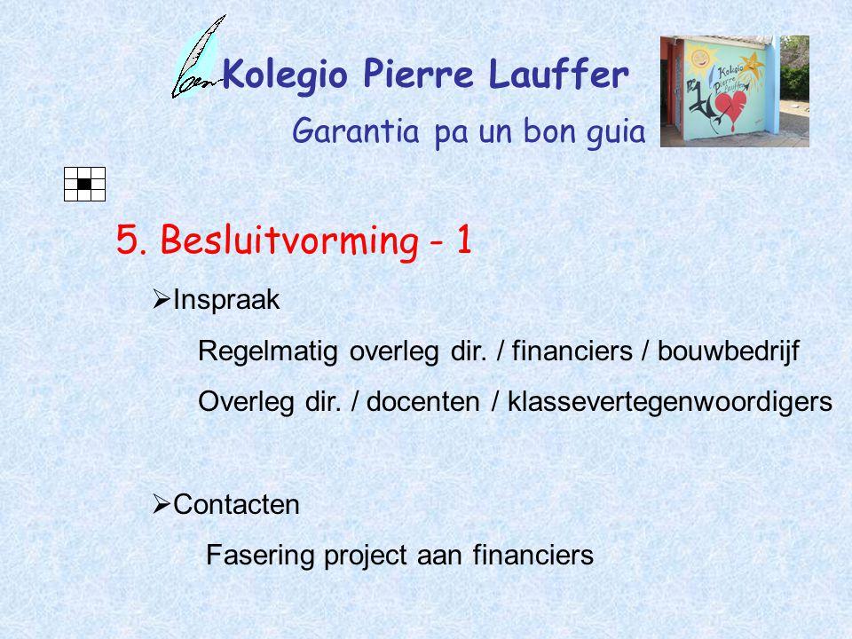 Kolegio Pierre Lauffer Garantia pa un bon guia 5.