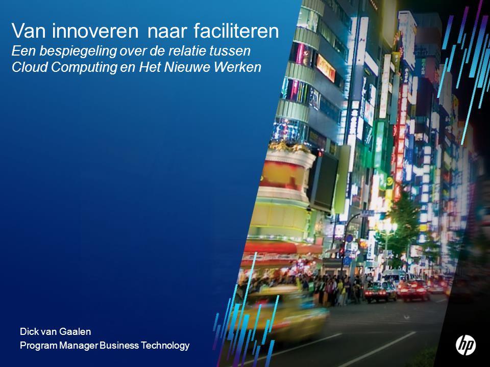 2 Drie belangrijke trends die onderling sterk samenhangen 1.Business Technology IT als kritisch bedrijfsmiddel 2.Cloud Computing Inkopen van IT services 3.Consumerization Het Nieuwe Werken