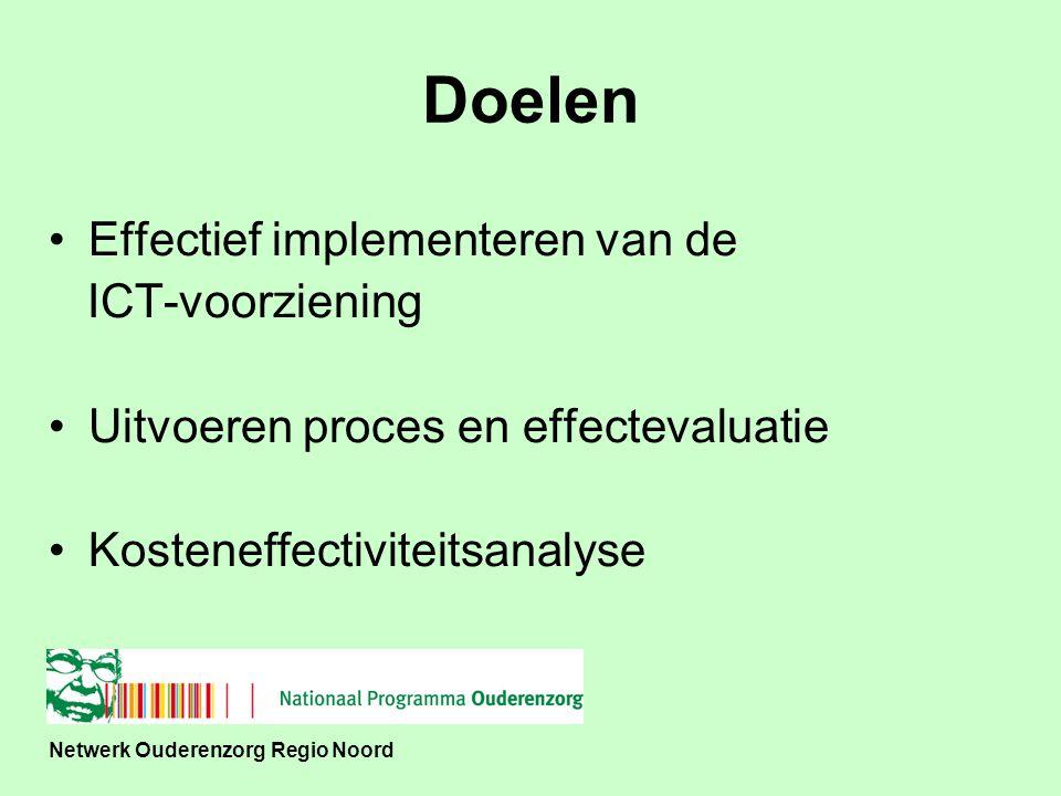 Netwerk Ouderenzorg Regio Noord Effectieve implementatie –Behoefte ouderen –Projectmedewerkers –Proces volgen en aanpassen