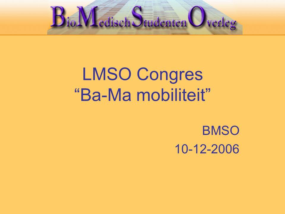 """LMSO Congres """"Ba-Ma mobiliteit"""" BMSO 10-12-2006"""