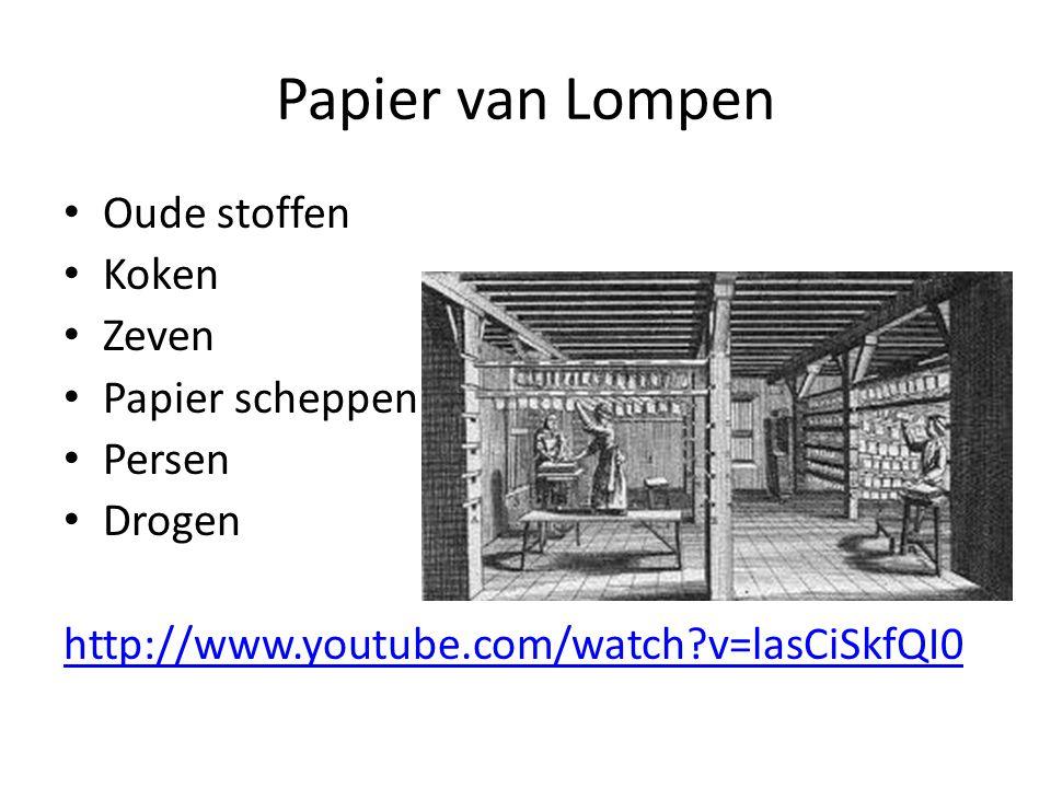 Papier van Hout Bomen kappen Drogen en versnipperen Bad Oven Wassen Drogen en persen Snijden http://archief.schooltv.nl/beeldbank/clip/20060411 _papier01