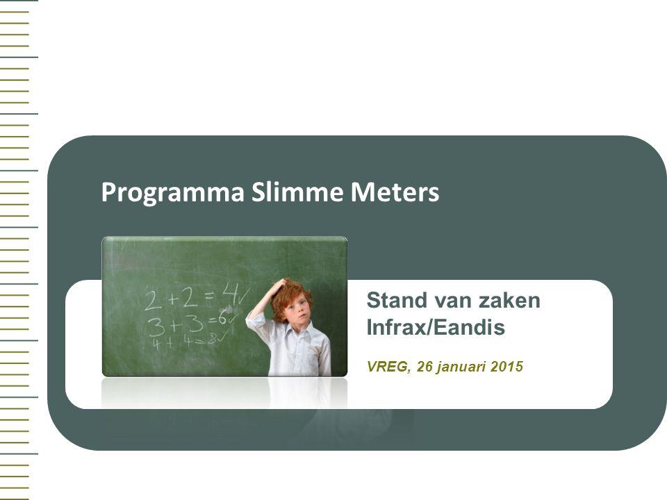 Slimgemeten.be Programma Slimme Meters Stand van zaken Infrax/Eandis VREG, 26 januari 2015