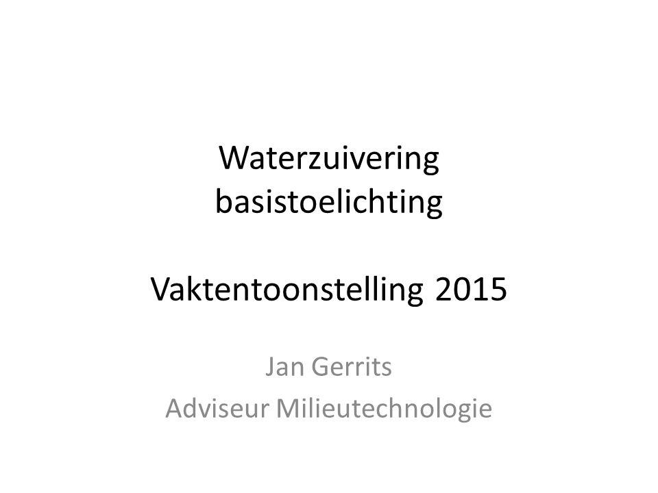Wat is waterzuiveren? Onderwerpen: -Vaste stoffen -Oxidatie -Redox / pH -Zouten /EC