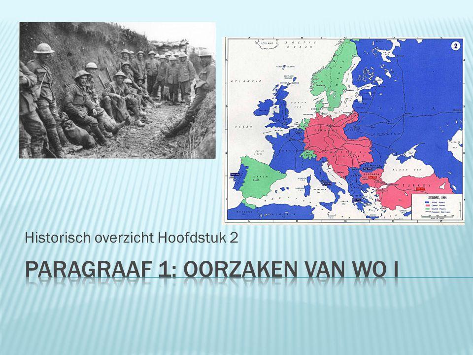 Historisch overzicht Hoofdstuk 2