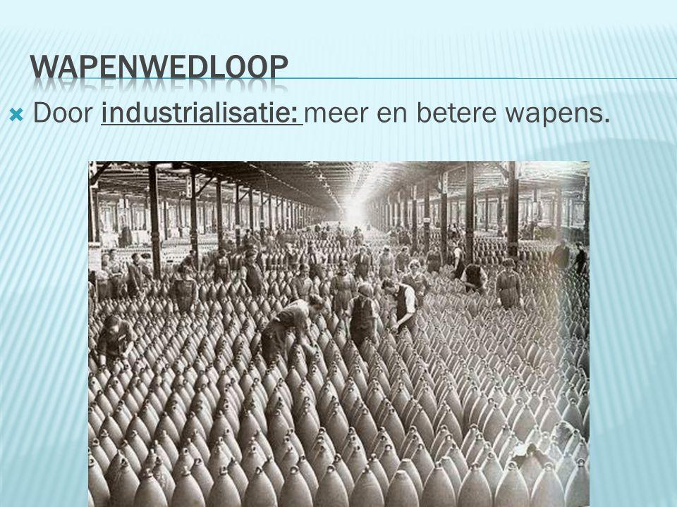  Door industrialisatie: meer en betere wapens.