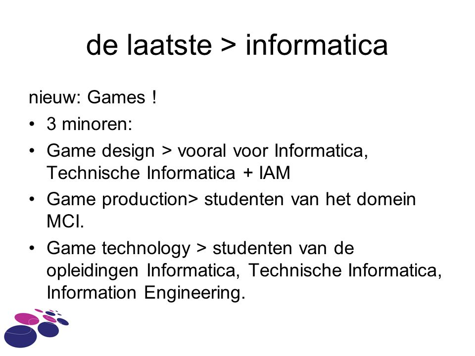 de laatste > informatica nieuw: Games .