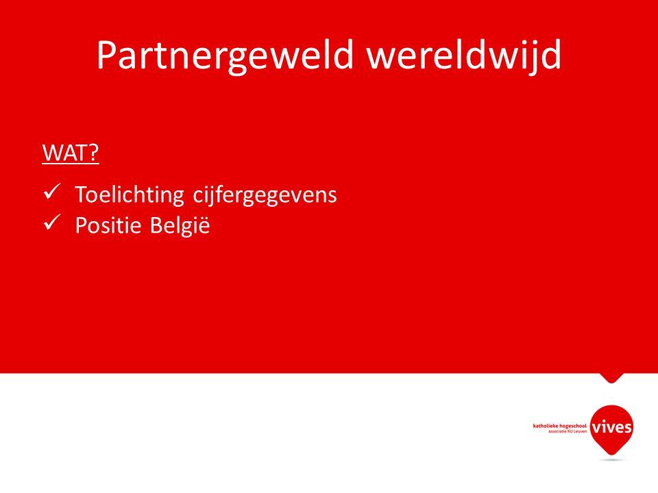 Partnergeweld wereldwijd WAT? Toelichting cijfergegevens Positie België