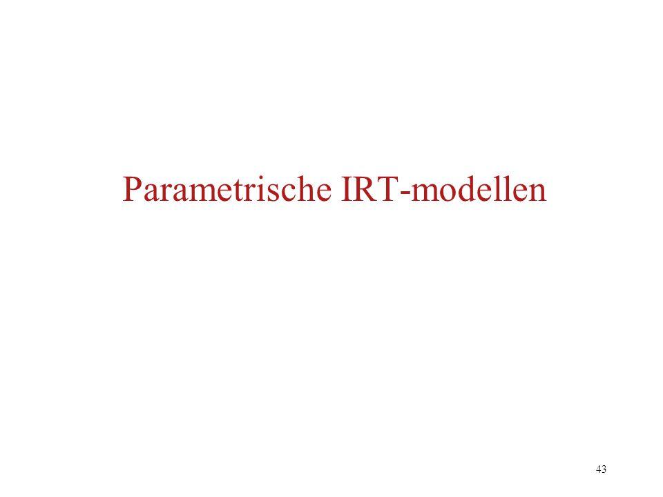 43 Parametrische IRT-modellen