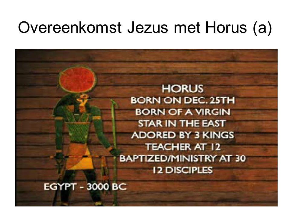 Overeenkomst Jezus met Horus (a)